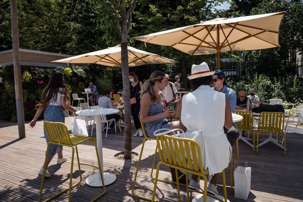Terrasse Roland-Garros Spectateurs