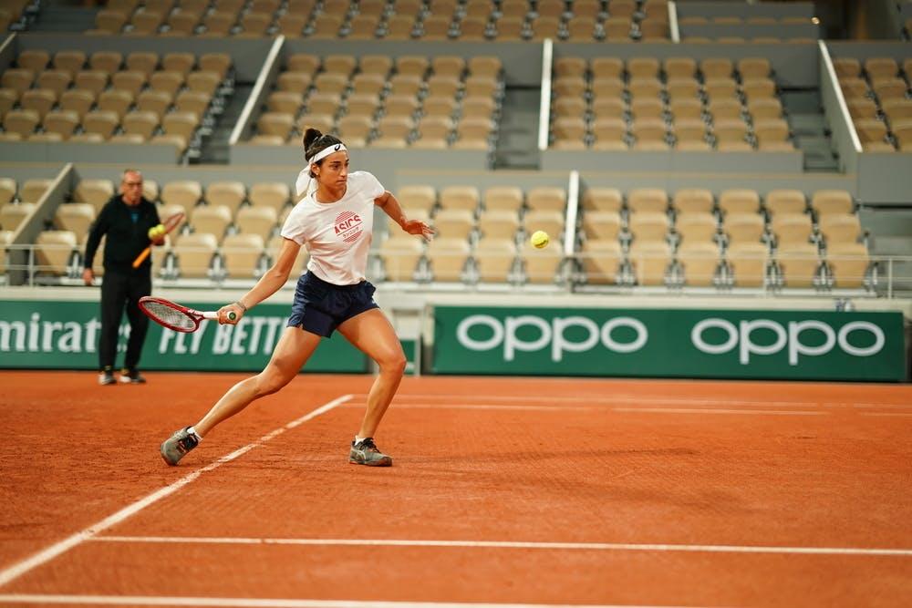 Caroline Garcia, Roland Garros 2020, entraînement