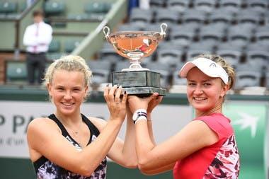 Katerina Siniakova Barbora Krejcikova Roland-Garros 2018.