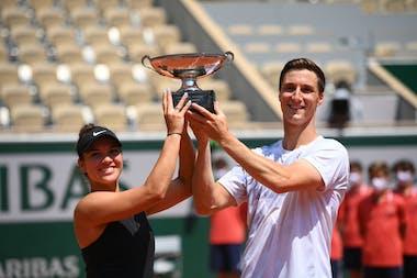 Desirae Krawczyk, Joe Salisbury, Roland Garros 2021, mixed doubles trophy