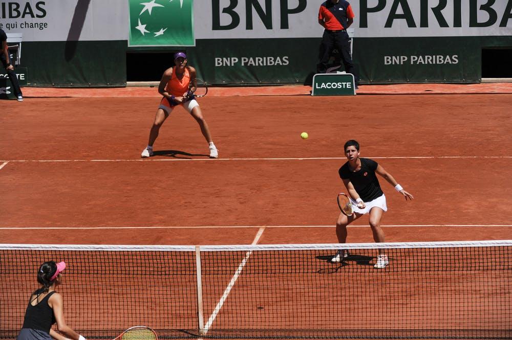 Carla Suarez Navarro, Garbine Muguruza, Roland Garros 2014 doubles semis