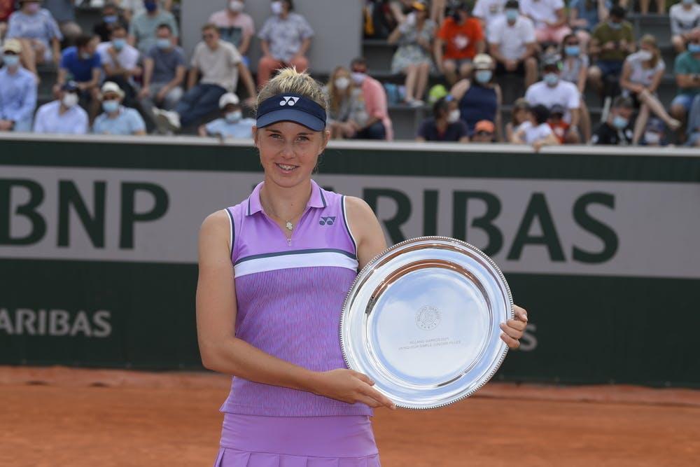 Linda Noskova, Roland-Garros 2021, girls' singles final