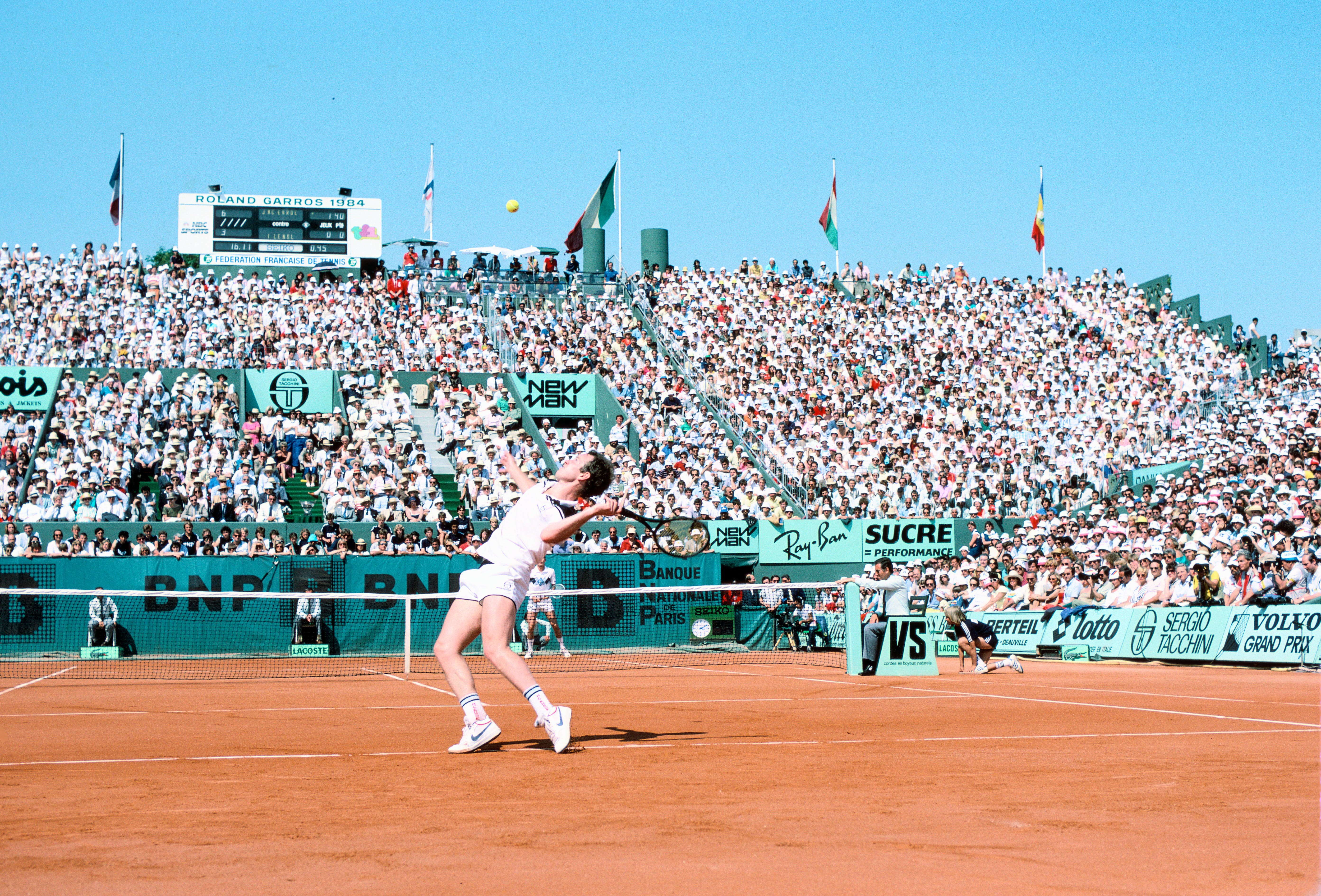 John McEnroe during the final at Roland-Garros 1984