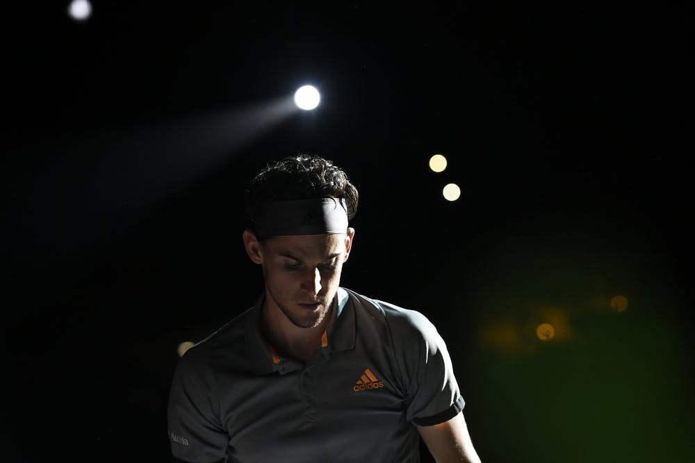 Dominic Thiem at the Rolex Paris Masters 2019