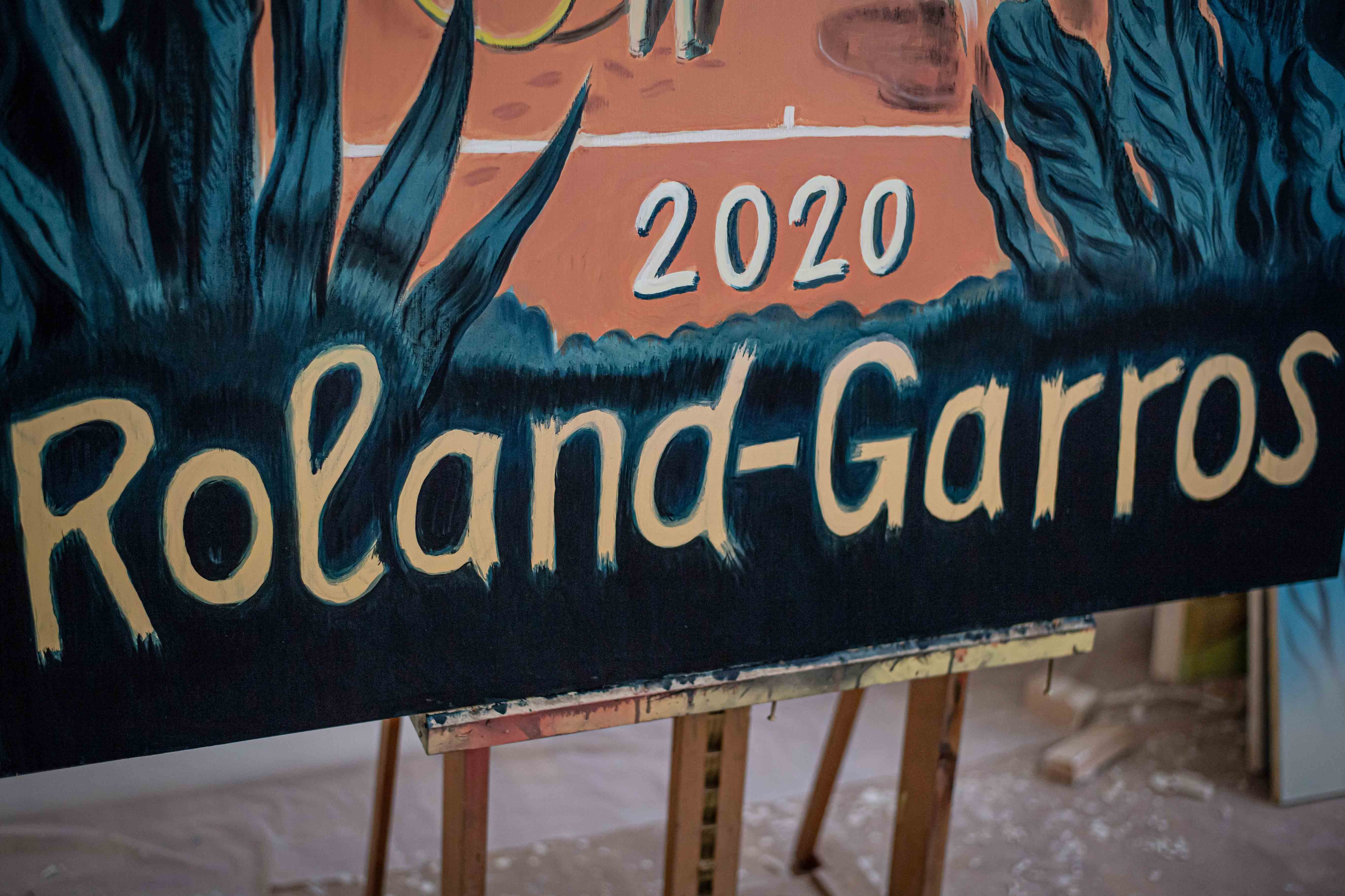 Detail of the 2020 Roland-Garros poster