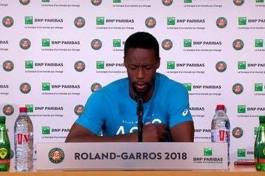 Roland-Garros 2018, 1er tour, Gaël Monfils, conférence de presse, press conference