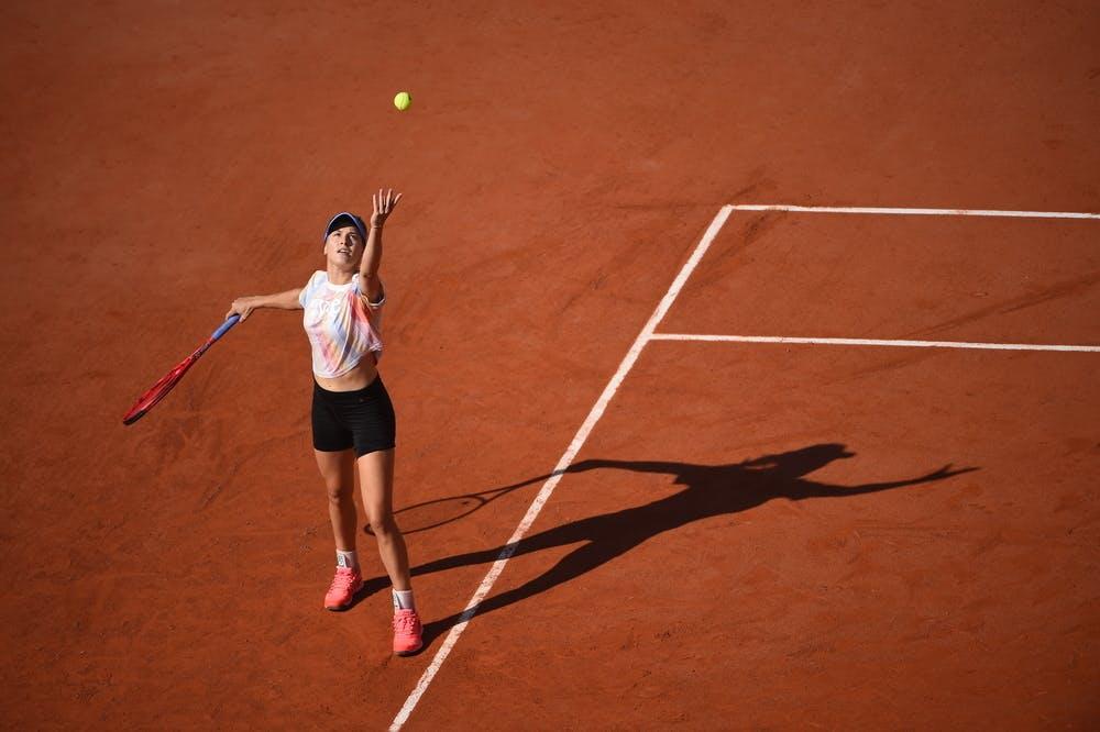 Eugenie Bouchard, Roland Garros 2020, practice