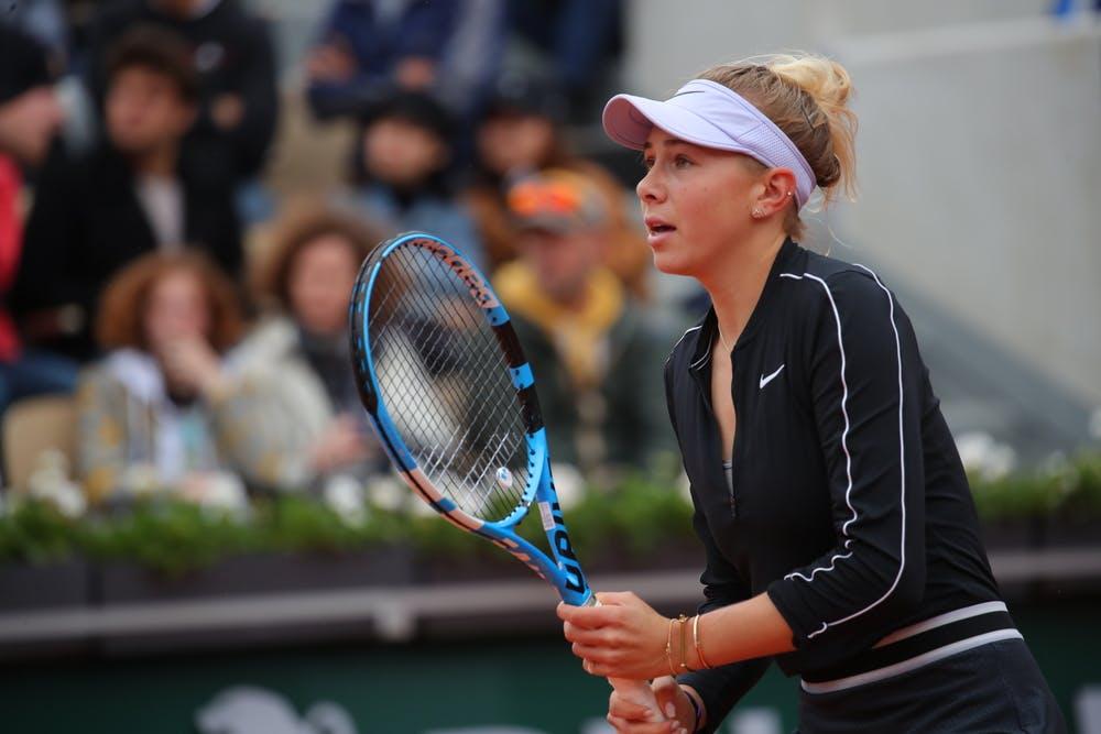 Amanda Anisimova during 2019 Roland-Garros