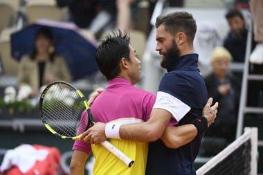 Kei Nishikori - Benoit Paire - Roland-Garros 2019 - huitièmes de finale