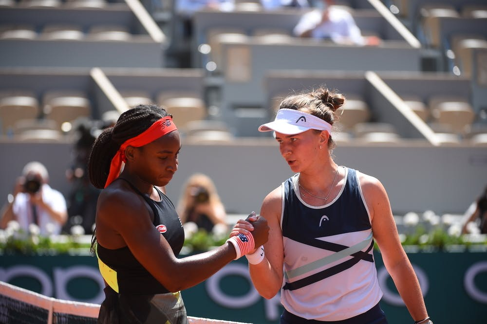 Barbora Krejcikova, Coco Gauff, Roland Garros 2021, quarter-finals