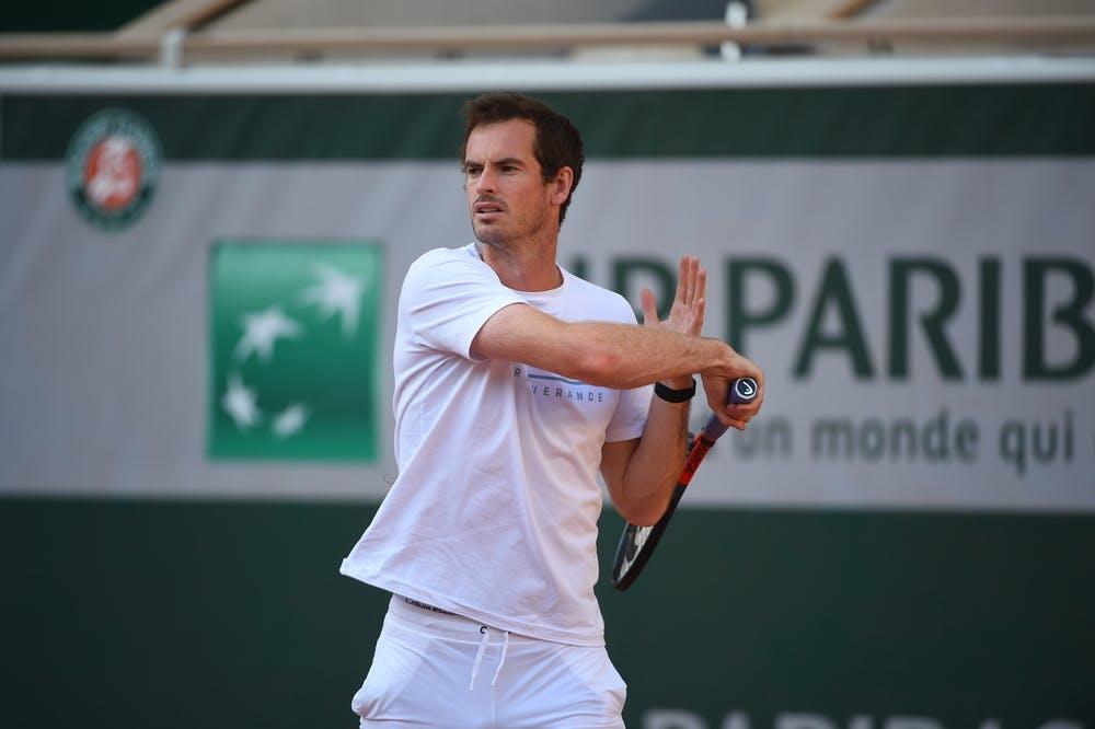 Andy Murray, Roland Garros 2020, practice