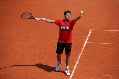 Stan Wawrinka entraînement Roland-Garros 2019