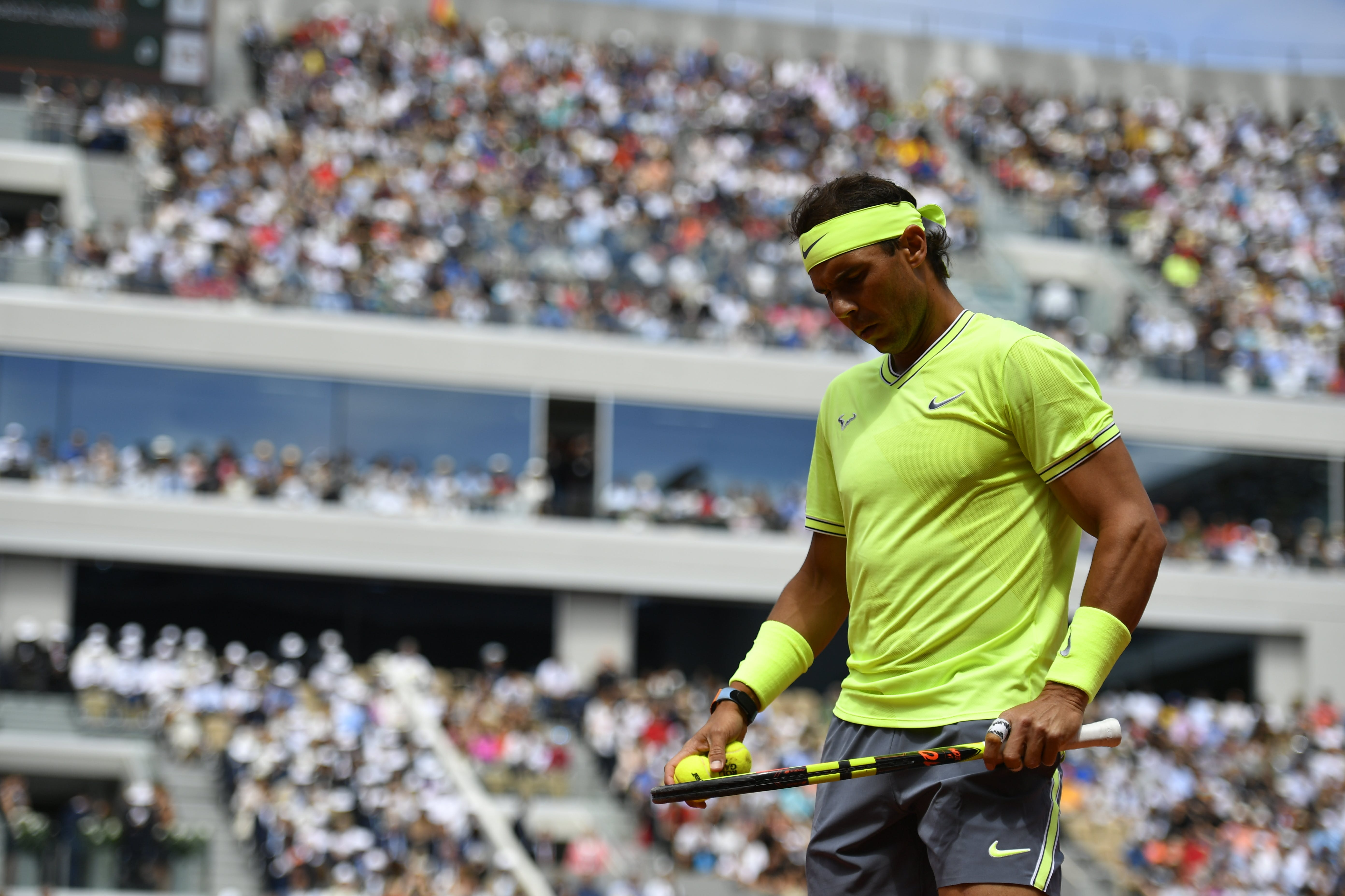 Rafael Nadal during his final against Dominic Thiem (Roland-Garros 2019)