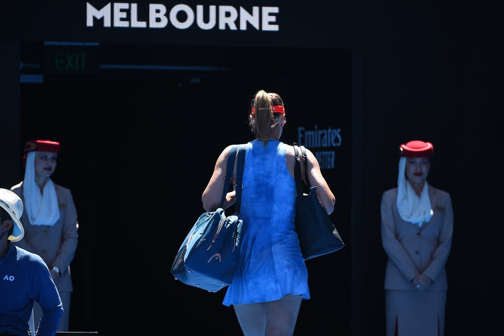 Maria Sharapova played her last match in Melbourne