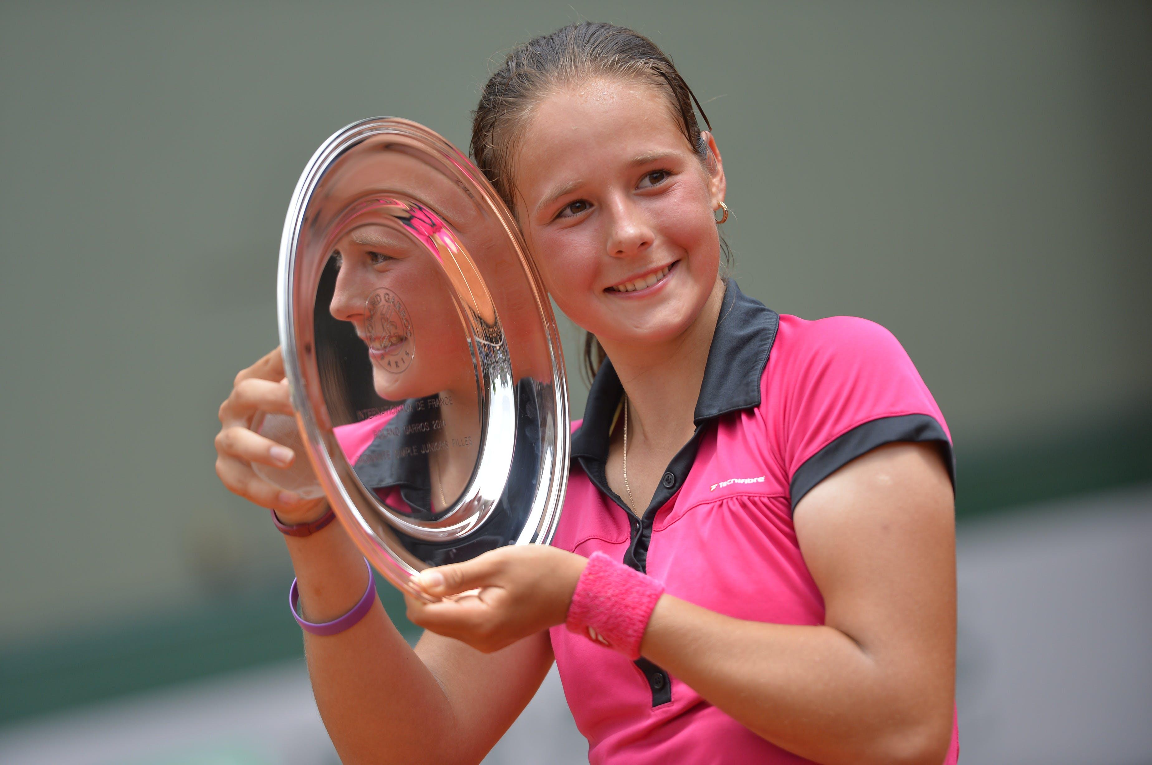Daria Kasatkina Roland-Garros girls singles champion / championne simple juniors filles 2014.