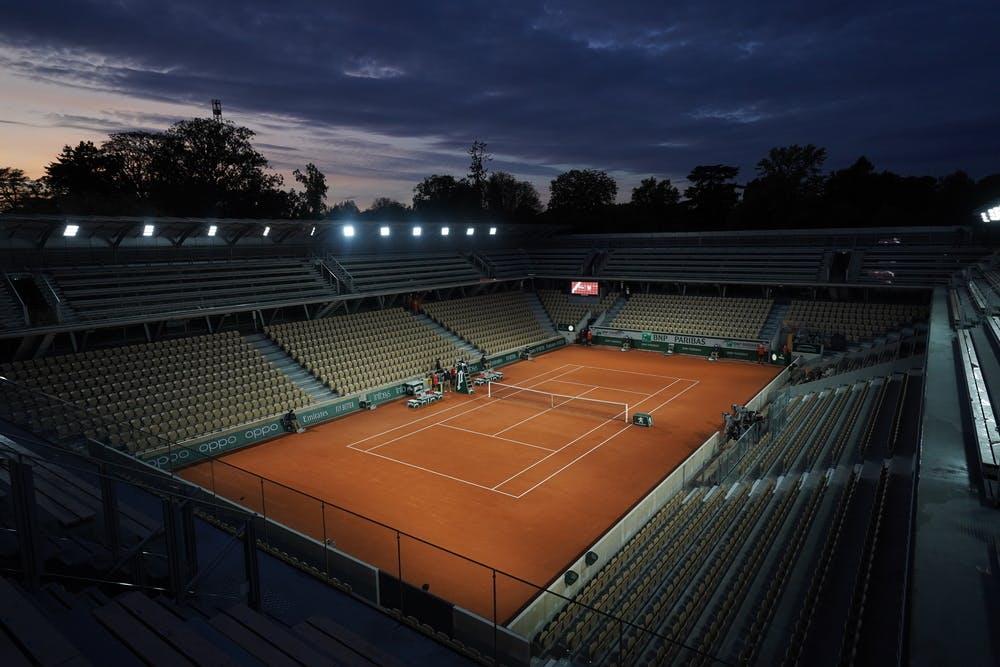 Court Simonne-Mathieu, Roland-Garros 2020, nuit