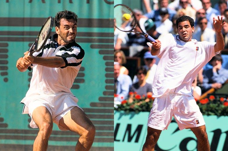 Sampras against Bruguera at Roland-Garros 1996