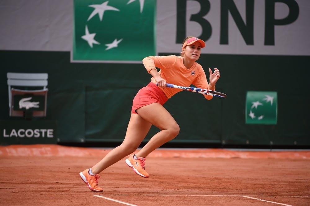Sofia Kenin, Roland Garros 2020, practice