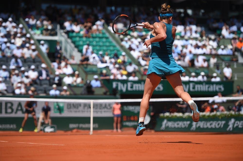 Simona Halep demi-finale 1/2 contre Muguruza Roland-Garros 2018