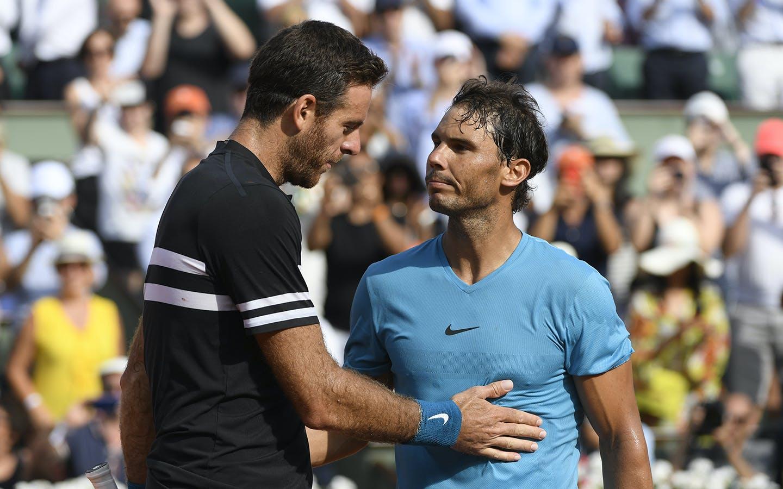 Juan Martin del Potro et Rafael Nadal, Roland-Garros 2018