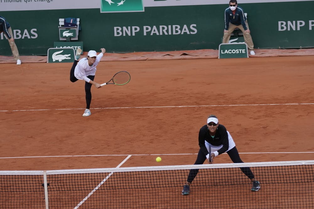Iga Swiatek, Nicole Melichar, Roland Garros 2020, doubles quarter-finals