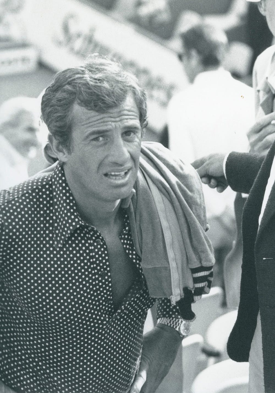 Jean-Paul Belmondo à Roland-Garros.