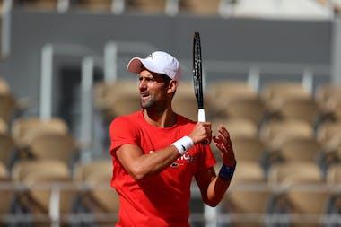 Novak Djokovic, Roland-Garros 2020, practice