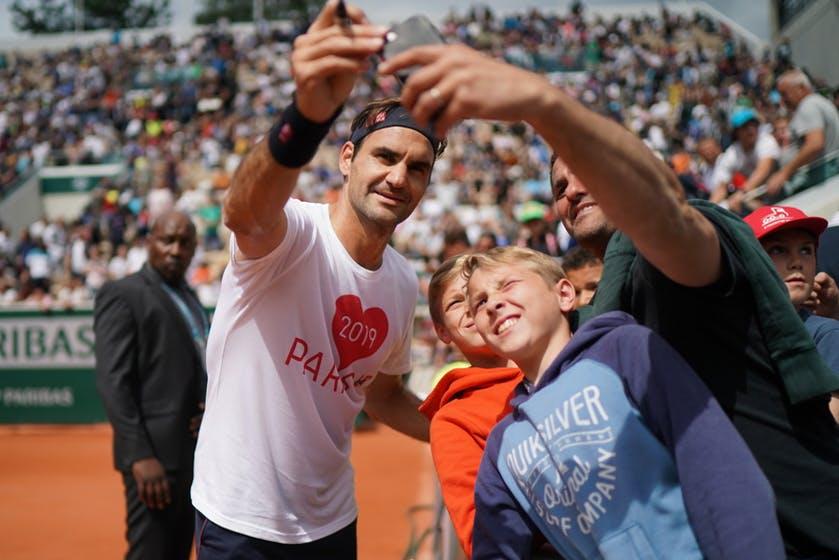 Roger Federer - Roland-Garros 2019 - Les Enfants de Roland-Garros