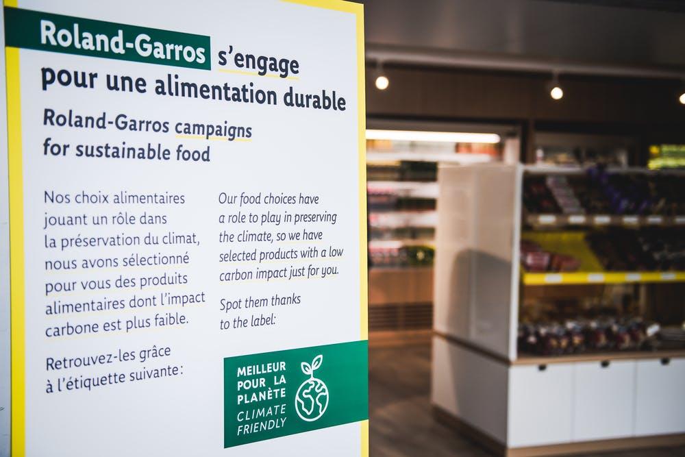 Climate Friendly Alimentation Durable Roland-Garros