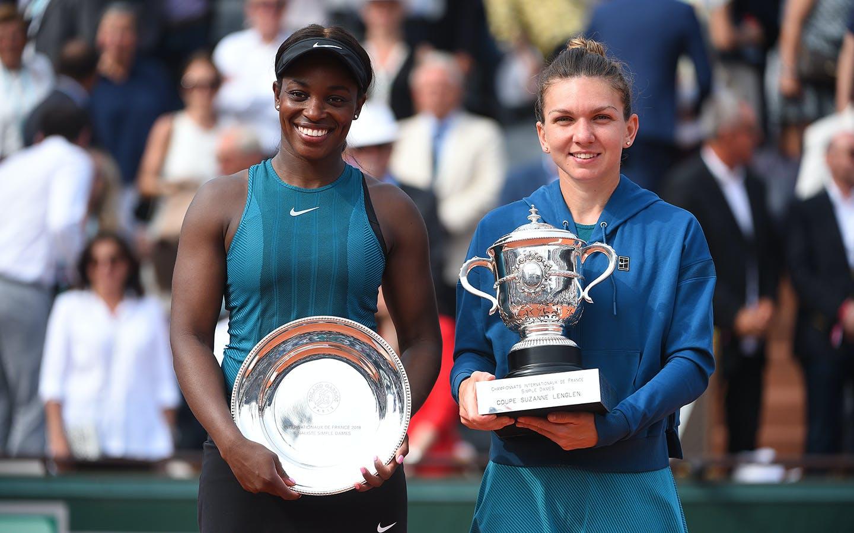 Sloane Stephens et Simona Halep, Roland-Garros 2018