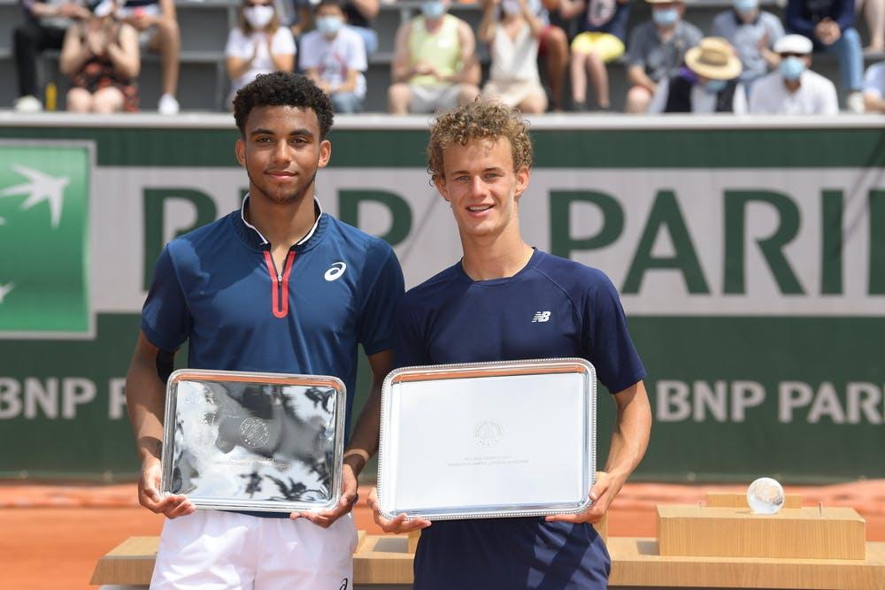 Arthur Fils, Luca Van Assche, Roland-Garros 2021, Simple Garcons, Remise de Prix
