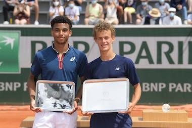 Arthur Fils, Luca Van Assche, Roland-Garros 2021, Simple Garcons, Remise de Prix, Photo :