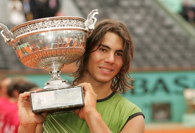 Rafael Nadal Roland-Garros French Open 2005 champion.