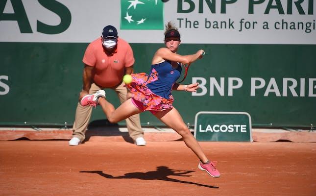 Carole Monnet, Roland Garros 2020, qualifying first round