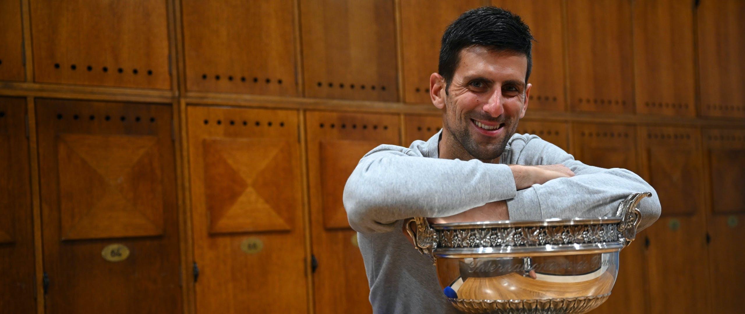 Novak Djokovic Roland-Garros 2021 trophée