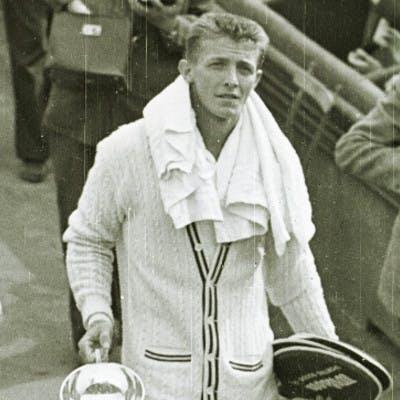 Arthur Larsen Tony Trabert Roland-Garros 1954.