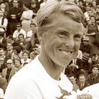 Ann Haydon-Jones championne de Roland-Garros 1961 et 1966 / Ann Haydon-Jones, French Open champion 1961 and 1966.