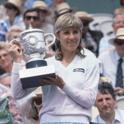 Chris Evert championne Roland-Garros 1983 French Open champ.