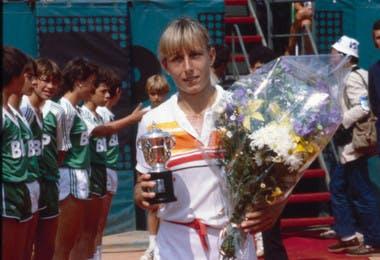 Martina Navratilova championne Roland-Garros 1982 French Open champ.
