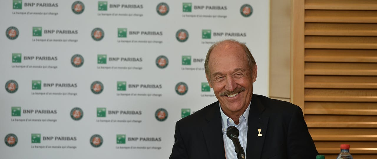 Stan Smith during a press conference at Roland-Garros 2017