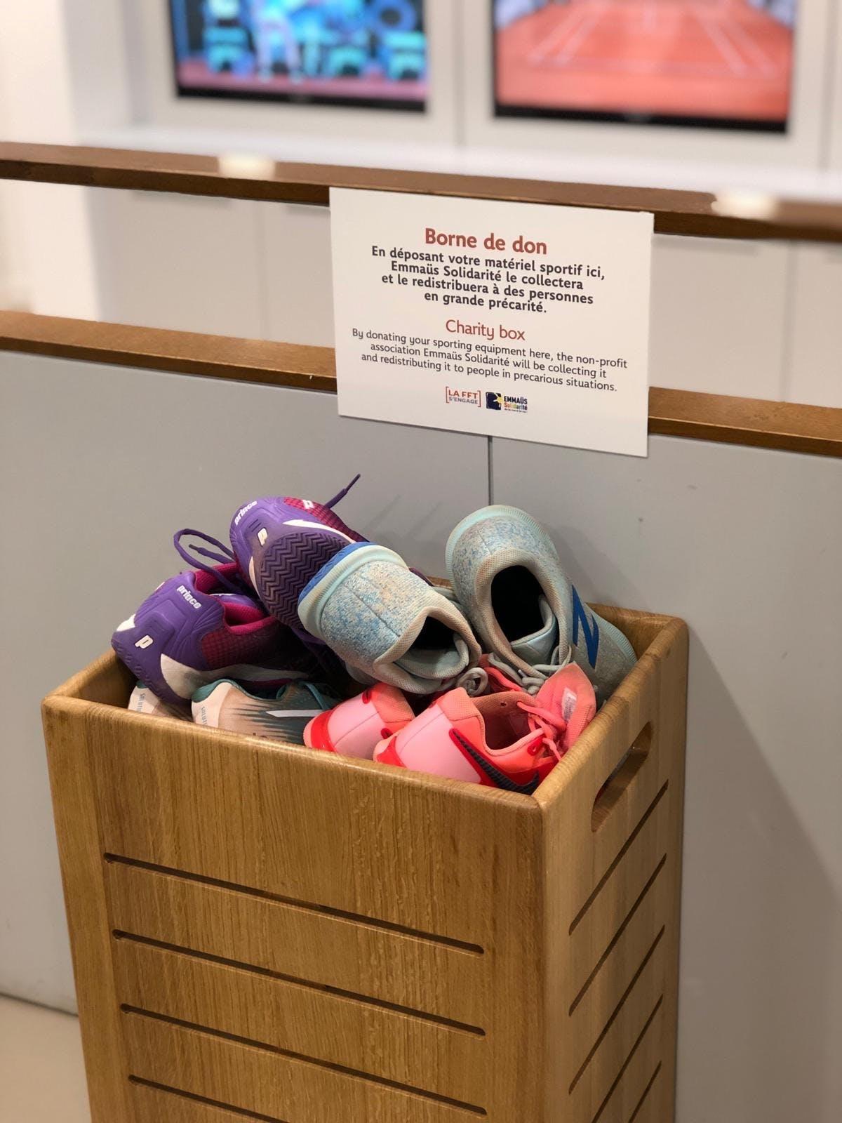 Borne de don à Roland-Garros