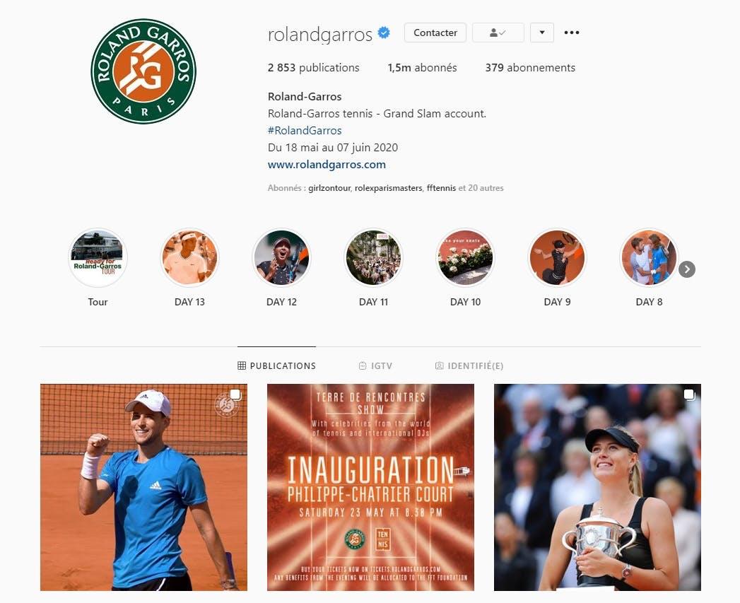Social Media Instagram Roland-Garros