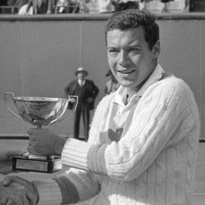 Nicola Pietrangeli Ian Vermaak Roland-Garros 1959.