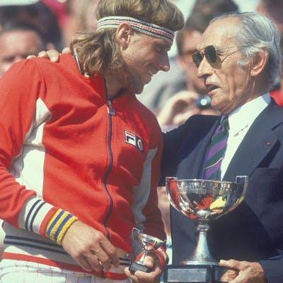 Björn Borg Henri Cochet Roland-Garros 1978.