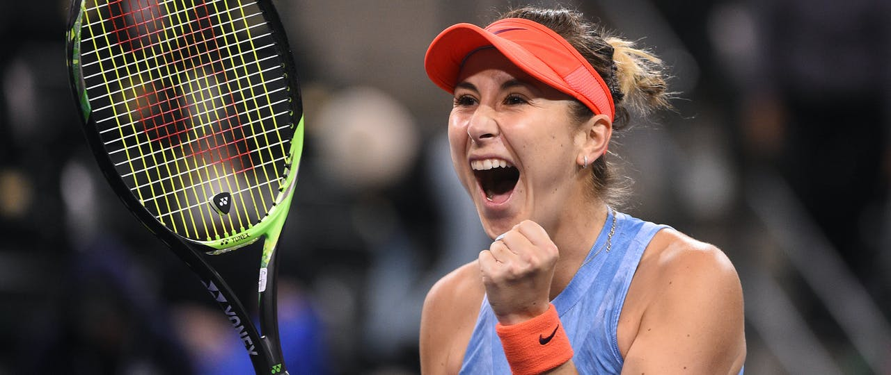 Belinda Bencic at Indian Wells 2019