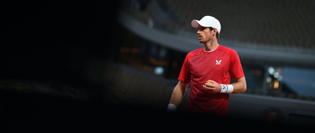 Andy Murray at Roland-Garros 2020.