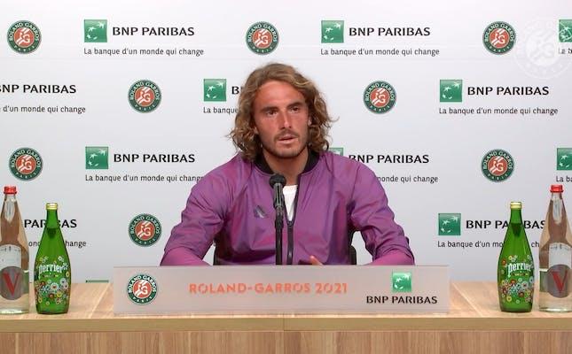 Conférence de presse Stefanos Tsitsipas / Finale Roland-Garros 2021