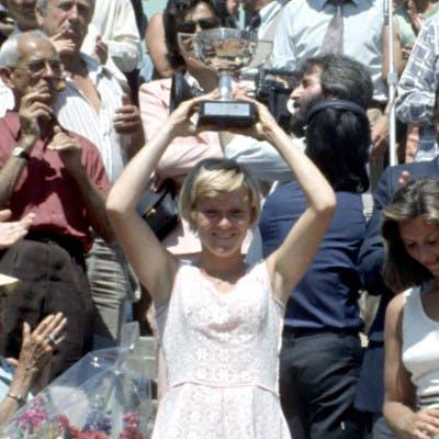 Sue Barker Roland-Garros 1976.