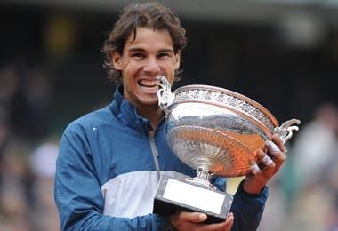 Rafael Nadal lors de la remise des trophées en 2013