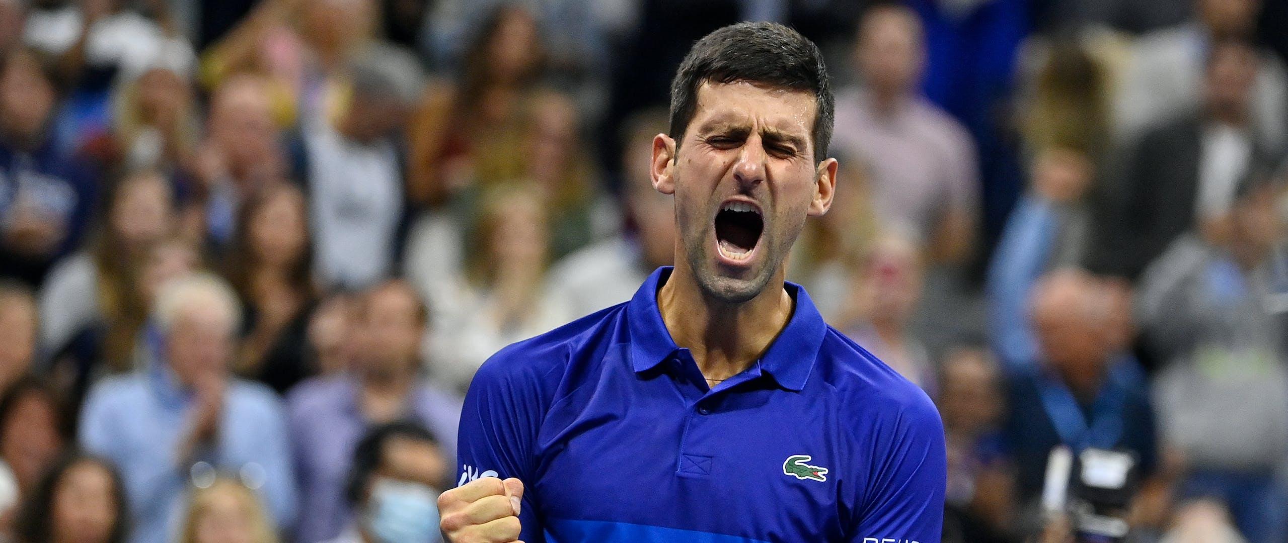 Roaring Novak Djokovic